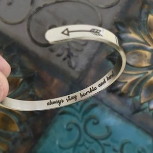 Humble Kind Inspirational Quote Bracelet Stainless